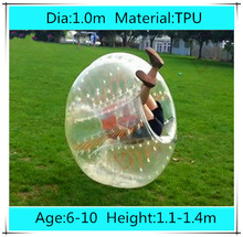 Dia 1.0m TPU bubble football soccer for Children Kids, Loopy zorbing ball, Inflatable Human Hamster Ball, Bumper Ball