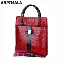 Good quality stone pattern women handbags over shoulder patent leather bags red black lady briefcase bolsos  free shipping 1002