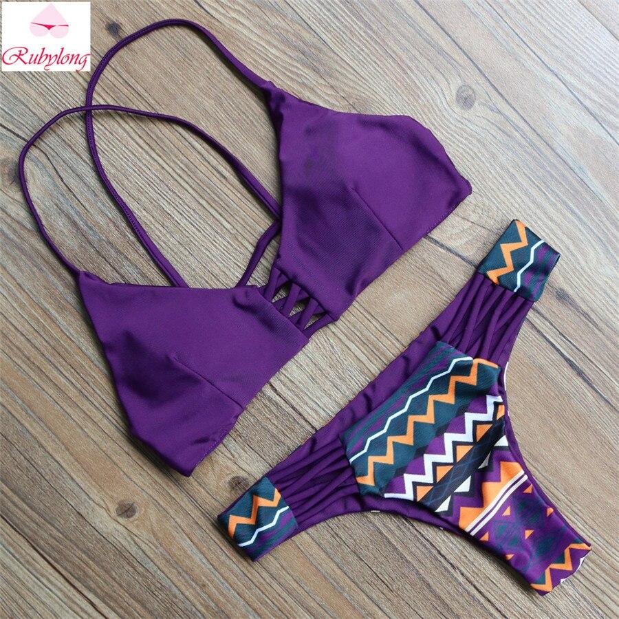 Women Bandage Purple Striped Bikini Push Up Sexy Hot Beachwear Swimsuits Brazilian Bikini Sets Bathing Suits Swimwear Biquini<br><br>Aliexpress