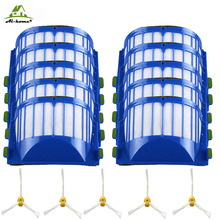 15pcs/lot AeroVac HEPA Filter 3-armed Side Brush for iRobot Roomba 600 Series 610 620 625 630 650 660 Vacuum Cleaner Accessories(China)