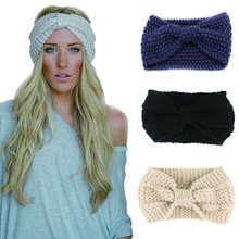Women Knitted Headband Earmuffs Ear Warmers Scrunchy Twist Hair Band Turban Headband Bandana Head Bandage turban femme cheveux(China)