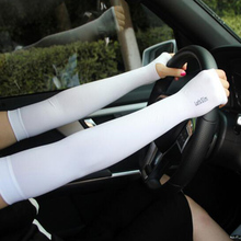 New Arm Sleeves Sun UV Protection Arm Warmer Sleeves Half Finger Long Gloves Cuff Arm Sleeves For Women Men(China)