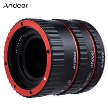 Andoer Colorful Metal TTL Auto Focus AF Macro Extension Tube Ring for Canon EOS EF EF-S 60D 7D 5D II 550D Red/ Blue/Sliver/Gold(China)