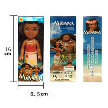 Disney Toys 16cm Princess Moana Doll Pvc Action Figure Toy Anime Birthday Kids Gifts For Baby Girls Brinquedos With Box