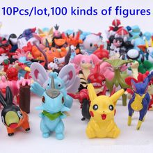 10Pcs/Lot 3-5cm 100 kinds of Kawaii Pokeball Pikachu action figure toys for children kids gifts Anime brinquedos(China)