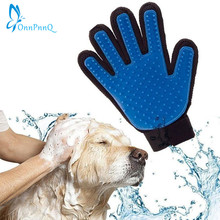 OnnPnnQ Popular Massage True Glove Touch Gentle Efficient Pet Grooming Dogs Cats Bath