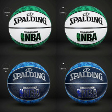 NBA Spalding Basketball Official Size 7 Quality Camouflage Blue Indoor Outdoor PU Race Tournament Balon de baloncesto Series