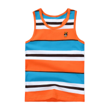Fashion Boy Striped T Shirt Newest  Infant Boy Cotton Summer Sleeveless T- Shirts Funny Kids T-shirts For Boys