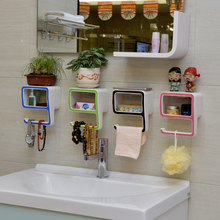Creative Sucker Soapbox Seamless Magic Stick Suction Wall Soap Box Bathroom Toilet Shelving Number 9