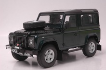 Car Model for Green 1/18 Rover Defender 90 Kyosho Diecast Alloy Model Car (Two spare tire)