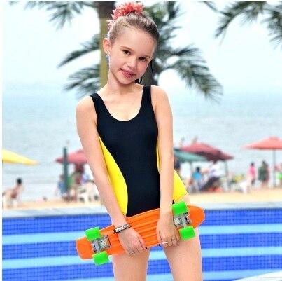 Children Professinal Training Swimwear One Piece Sports Swimming Suit Nylon Racing Beach Bathing Surf Body Summer Swim Clothes<br>