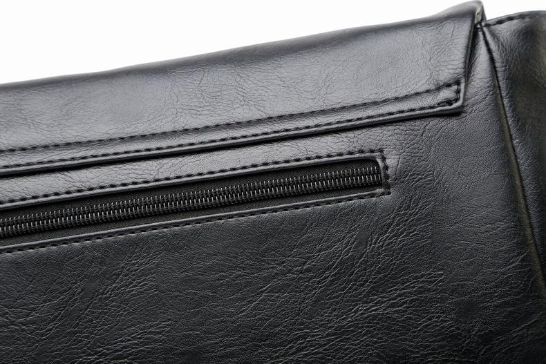 MJ Men\`s Bags Vintage PU Leather Male Messenger Bag High Quality Leather Crossbody Flap Bag Versatile Shoulder Handbag for Men (15)