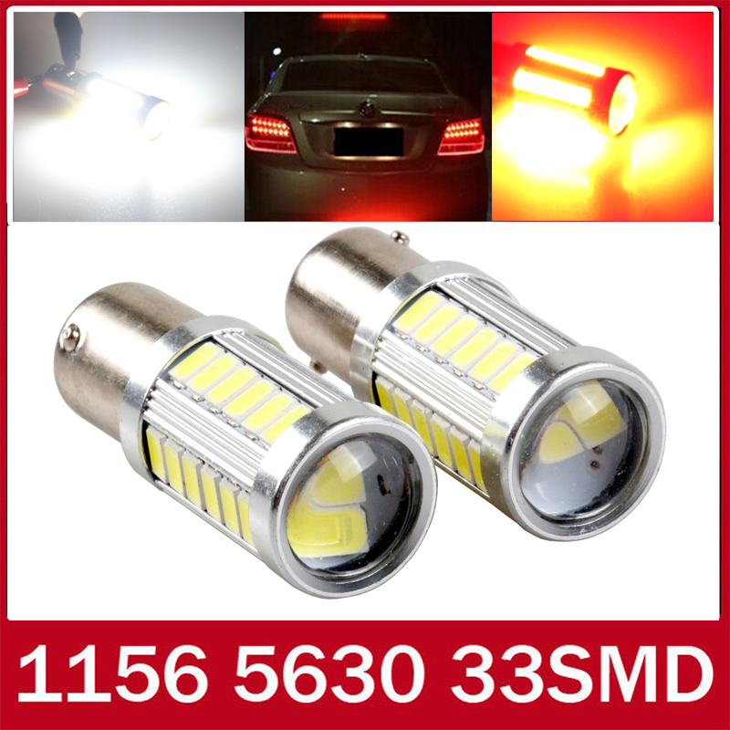 2pcs white Red Yellow p21w led 33SMD 1156 ba15s 12v 5630 5730 bulb RV Trailer Truck car styling Light parking Auto led Car lamp<br><br>Aliexpress