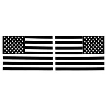 1 Pair 6 Inch Car Sticker Black American Flag Mirrored Reverse Vinyl Decals For Boat 15.5 x 10.5cm(China)