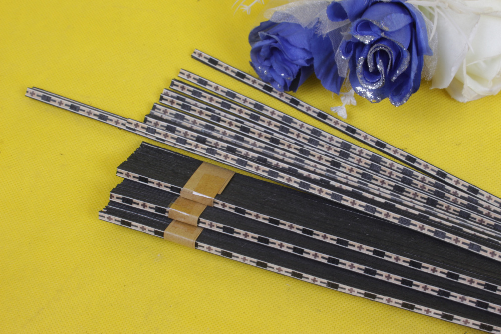 LUTHIER PURFLING 59# 30 strip LUTHIER PURFLING BINDING MARQUETRY INLAY New Guitar Parts Size : 640 x 5 x 1.0mmmm<br>