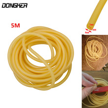 5M Natural Latex Tube Band Slingshot Replacement Rubber Band for Hunting Sling Shot Catapults 3x5mm 2x5.5mm 2x4mm 4x6 1.7x4.5mm(China)