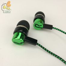 common cheap Clearance sale serpentine braid cable headset earphones earcup direct manufacturer hot selling blue green 500pcs(China)