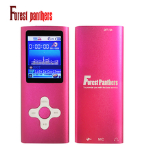 Forest panthers real MP3 Player Music playing 30Hours FM Raido Ebook Game Sport player Slim 1.8' 4th 8GB 7 Colors 4TH player(China)