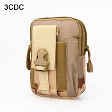 Military 10 Colors Molle Pouch Waterproof Fabric cell Phone Case Pocket Wear A Belt 600D Oxford High Quality Waist Bag CL6-0089