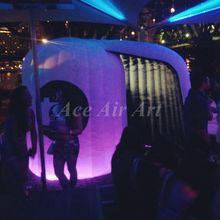 Newest advertising photobooth customized led inflatable lighting circle photo booth