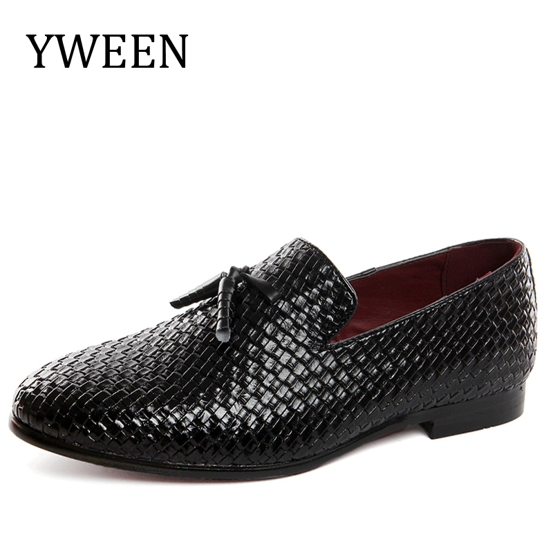 YWEEN Loafers Shoes For Men Luxury Braid Leather Casual Driving Oxfords Shoes With Man Flats Large size<br>