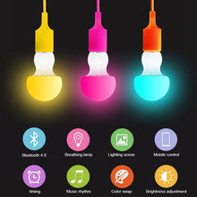 Bluetooth LED Bulb E27 RGBW 6W Bluetooth 4.0 Smart LED Light Bulb Timer Color Changeable By IOS / Android APP Dimmable AC85-265V(China)