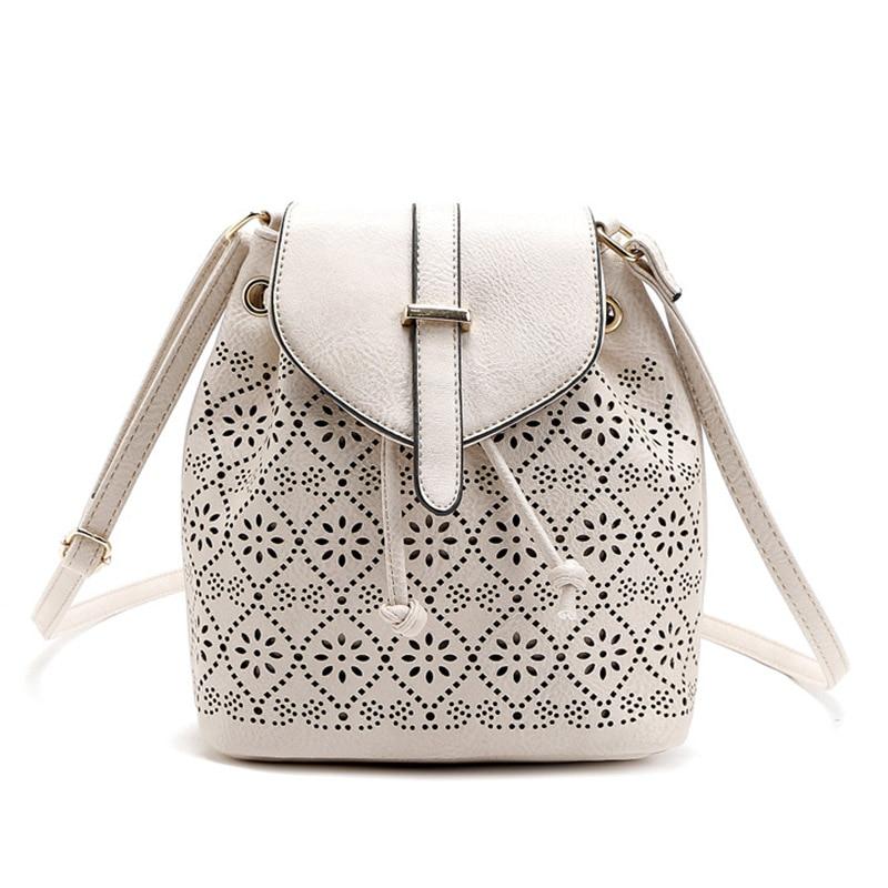 Fashion Elegant Ladies Shoulder Crossbody Small Bucket Bag Vintage Bolsos Casual Women Hollow Out Retro Messenger Bags <br><br>Aliexpress