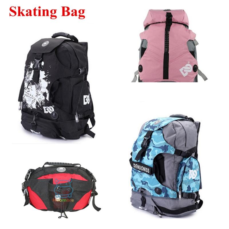 Men Women Skates Bag Large Inline Skates Sports Backpack Skating Gear