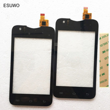 ESUWO New Phone Glass Panel Touch Screen Digitizer For Explay A350TV A360TV For Star TV A350 Sensor Touchscreen +3m sticker