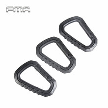 FMA Type D Quick Hook Big BK Durable Mountaineering Buckle Quick Release Keychain Climbing Hiking Safety Hook Travel Kits TB862(China)