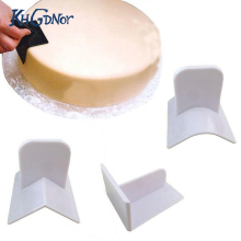 Home DIY Baking Tool 3pcs/set Round Edge Rectangular Plastic Fondant Cake Smoother Side Polisher Smooth Tool