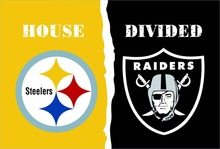Pittsburgh Steelers VS Oakland Raiders flag 100D polyester digital printed banner 150x90cm 71078(China)
