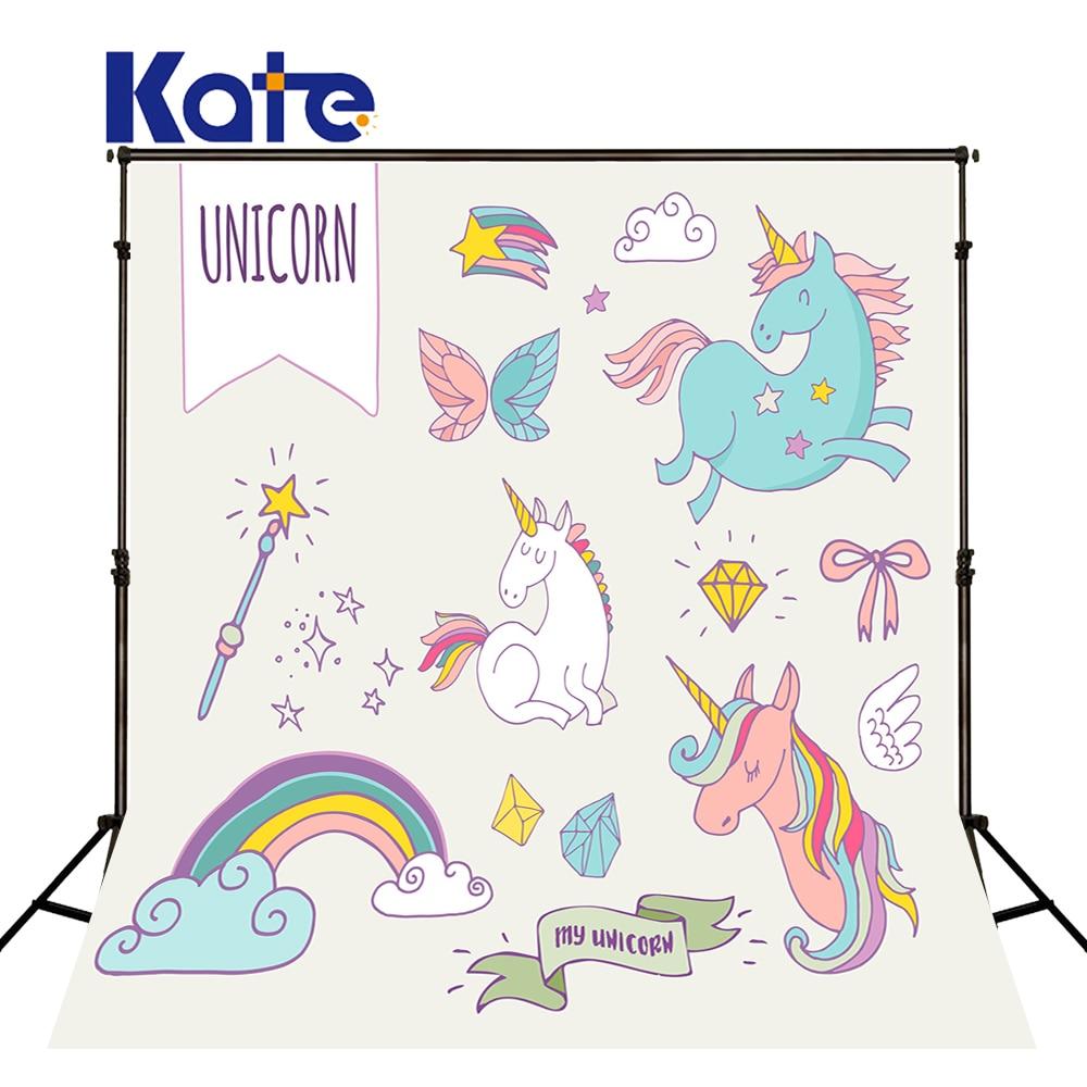KATE Unicorn Background Baby Backdrop Cartoon Rainbow Diamond Photography Children Magic Wand Meteor Background For Photos<br>
