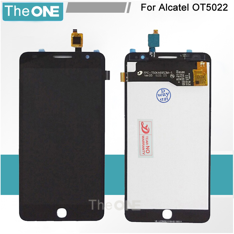 Black Full LCD DIsplay + Touch Screen Digitizer Assembly For Alcatel One Touch Pop Star 3G OT5022 OT 5022 OT-5022 5022X 5022D<br><br>Aliexpress