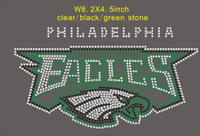 15pcs/lot Eagle rhinestone transfer motif, hot fix applique, iron on strass, free shipping(China)