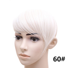 #60 White Blonde Inclination Fringe Bangs 2Clips Clip In Hair Extensions 30grams Synthetic Hair Fake Bangs Fashion Hairpieces
