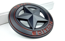 50 Pieces Chrome Metal TEXAS Edition Car Styling Five pointed star Car Stickers for Renegade Compass Wrangler Cherokee Patriot