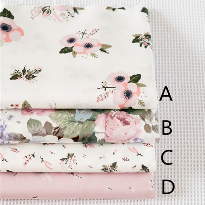 Tela De Poli Algodón Tejido Floral de jardín de rosas Flores material