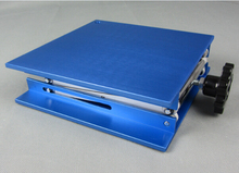25 x 25 CM blue manual lifting platform,lifting table,lab lift table,Laboratory lifting platform,laboratory instrument(China)