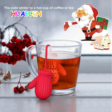 Christmas gloves tea strainer infusers manufacturers silicone bag filter kitchen tool(China)