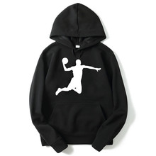 2017 NEW Print michael Jordan cotton blend Hoodies with hat fleece casual loose mens hoodies and sweatshirts(China)