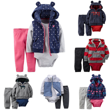 Buy 2018 New Baby Girls Clothes 100% Cotton Hooded Coat + pants + Romper 3 piece Cartoon Newborn Boys Clothing Sets infant bodysuits for $9.72 in AliExpress store