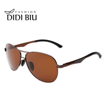 DIDI Ultra-light Aluminum Polarized Aviator Sunglasses Men Steampunk Goggle Glasses European American Classic Black Eyewear H342
