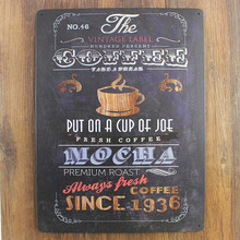 The Vintage Label Coffee Metal sign Shabby Chic Tins Sign home decor 30*40 CM Plaque Sign For Home Bar Coffee Decoration