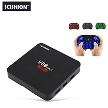 SCISHION V88 mini 1G 8G  Smart Android TV Box RK3229 4 Core Android 6.0  PK X92 X96 Android TV Set Top Box
