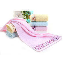 Super Absorbent  and quick dry Pure Cotton Love Heart Pattern Hand Towel Beach Bath Absorbent Drying Wash Face Cloth
