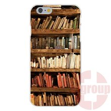 Mate 8 Vintage Library Look Books Shelves For Xiaomi Note Redmi Note 2 3 4 Soft TPU Silicon Mobile Phone