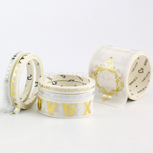Creative Gold And Silver Foil Decorative Paper Washi Tape Leaf Flower Alphabet Stars Masking Tape For Adhesive Diy Scrapbooking
