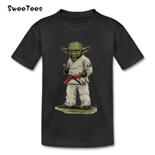 Yoda Judo Star Wars Children T Shirt Infant 100% Cotton Boy Girl 2017 T-shirt O Neck Kid Tshirt Toddler Teeshirt(China)