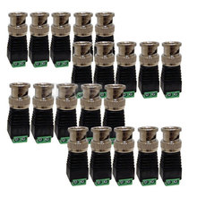 10PCS/LOT Cat5/Cat6 UTP to Coaxial BNC Video Balun Connector Adapter for CCTV Camera